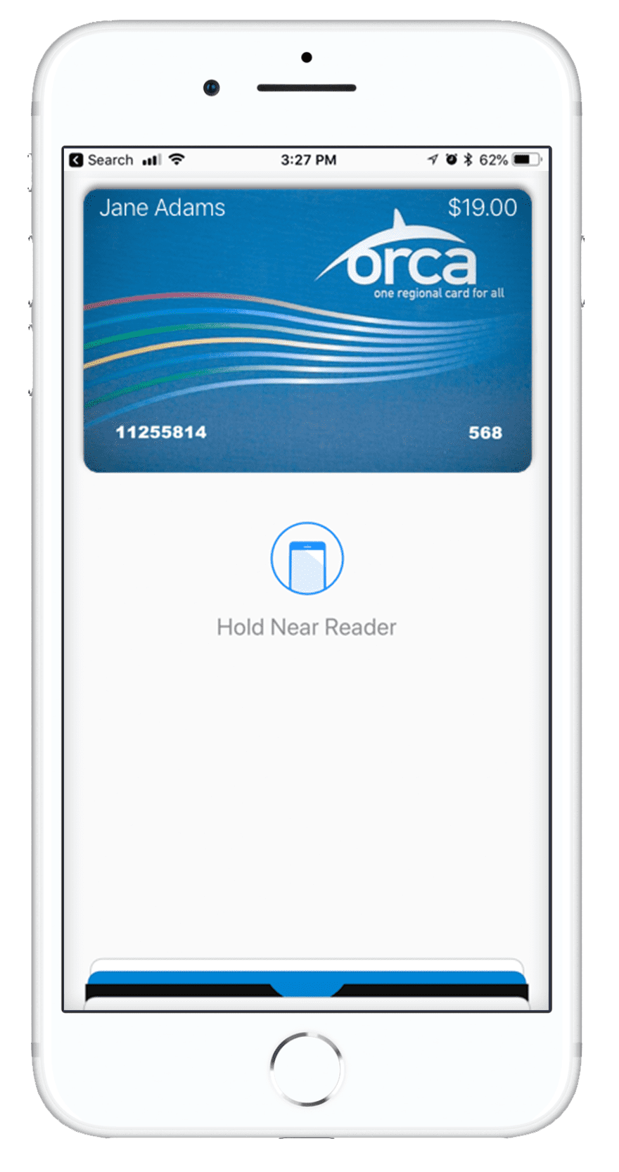 Orca Card 2 using Apple Wallet Pay