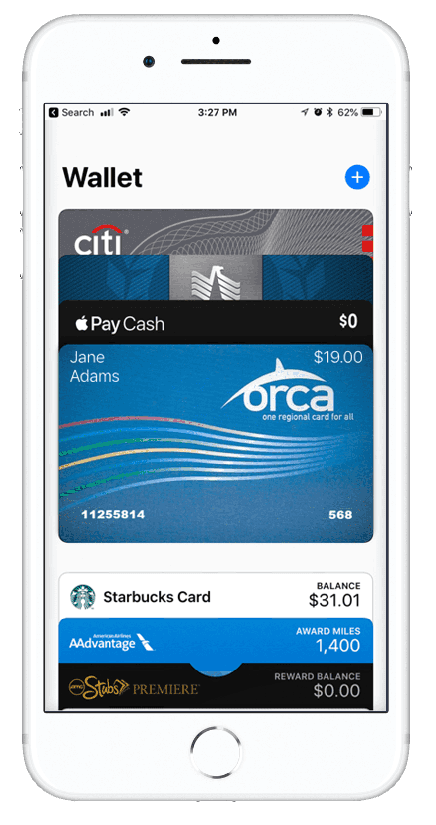 Orca Card 2 added to Apple Wallet