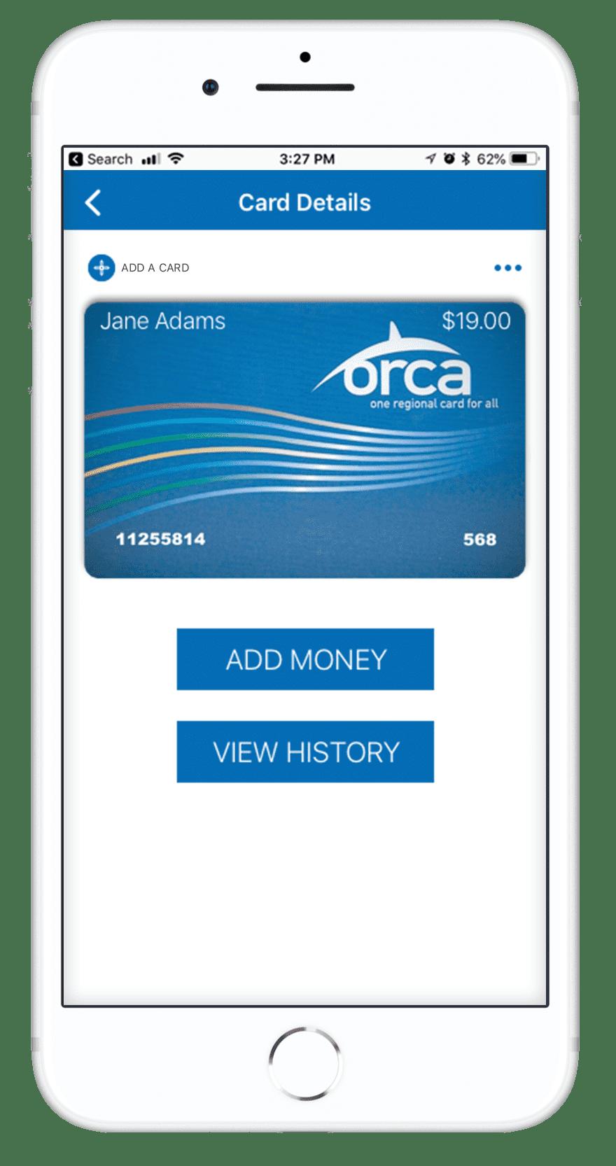 Orca Card 2 - Jane Adams - Card Details
