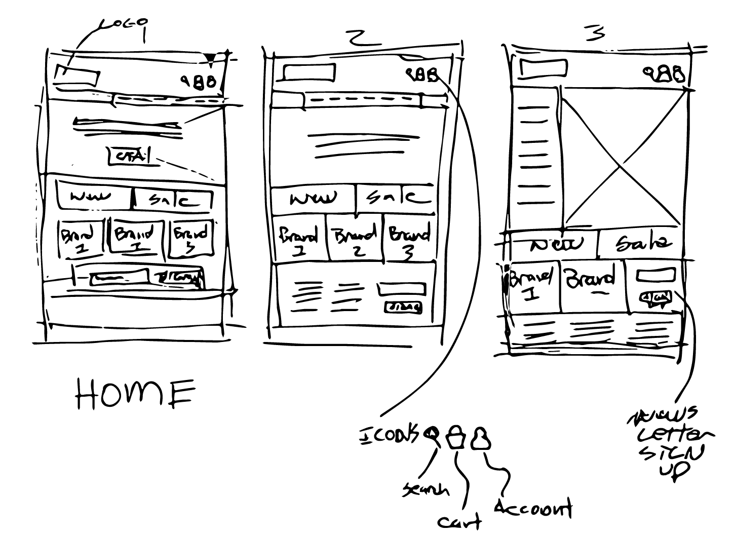 Standard Goods - Home page - Sketch Options