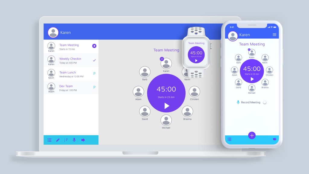 Mobile, Desktop and Watch (Mid-Fidelity Wireframes)
